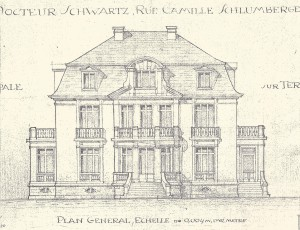 villa plan de l'architecte
