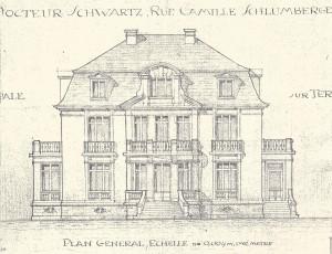 villa plan de l'architecte