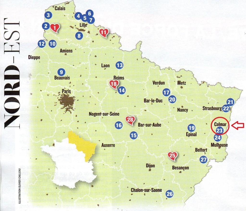 sélection Nord Est Figaro 2014